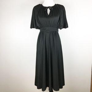 Vintage 1970's Tracy A Line Midi Dress Size S/M